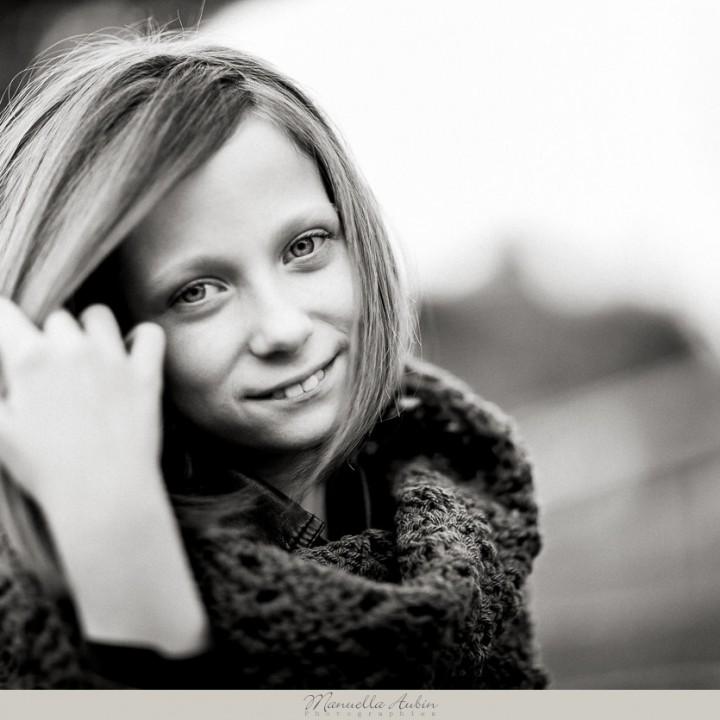 Portraits enfant : Jeanne, 10 ans.